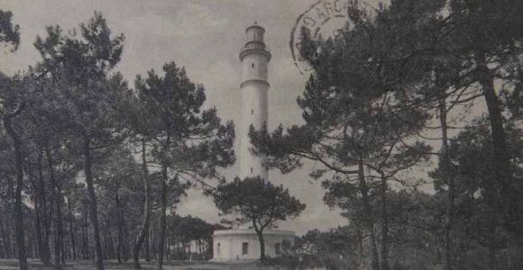 Le Phare du Cap Ferret, histoire , le Phare avant la guerre, carte postale ancienne