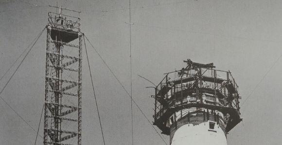 Reconstruction du Phare après la Guerre, en 1947